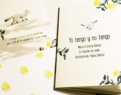 """Illustrated Poem """" Yo tengo y no tengo"""" 2015"""