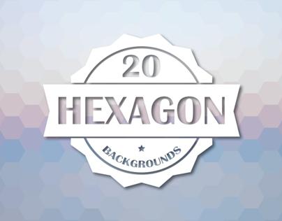 20 Hexagon Backgrounds