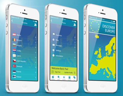 iOS7 App Design - Discover Europe