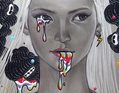 2015 Color Pencil Drawing (fashion)
