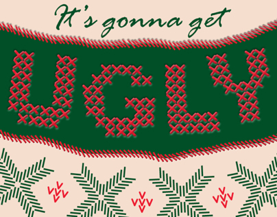 Faculty Ugly Christmas Sweater Poster