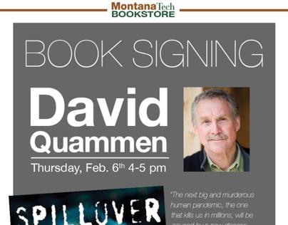 Quammen Book Signing Poster