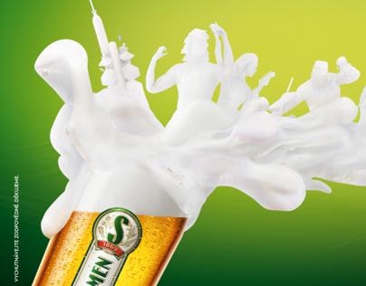 Staropramen Beer foam people 1