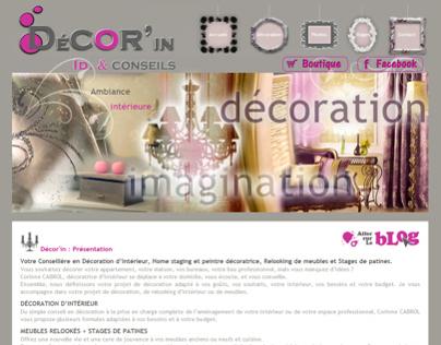 Web design pour decoratrice