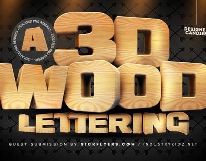 3D Wooden Lettering Pack