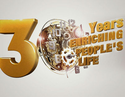 KAO 30th Anniversary typography