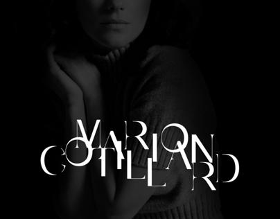 TYPOGRAPHY / Marion Cotillard