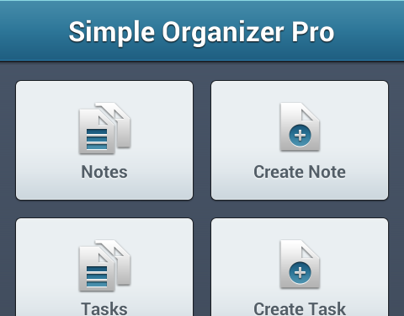 Simple Organizer Pro UI