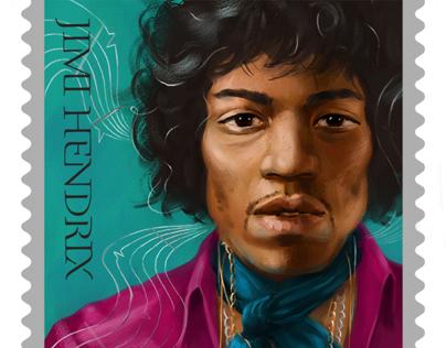 Jimi Hendrix Postage Stamp