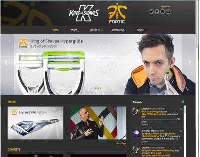 Fnatic- King of Shaves Partnership Microsite