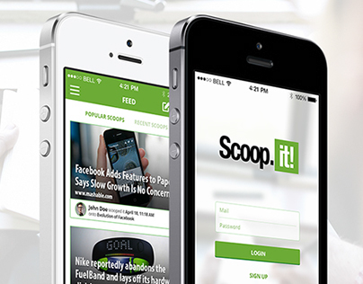 Scoop.it! for iPhone - Redesign Concept