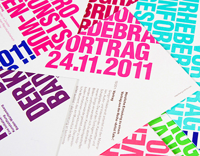 Kunstbüro BW Einladunsgkarten Programmflyer