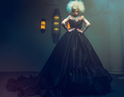 Kat Livingston for David Tupaz Couture