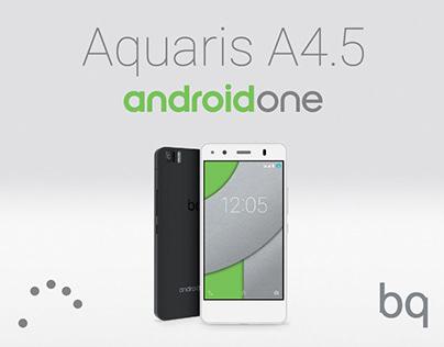 Android One. BQ Aquaris A4.5. Creative direction. POS.