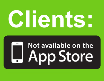 Clients: Not Available on the App Store