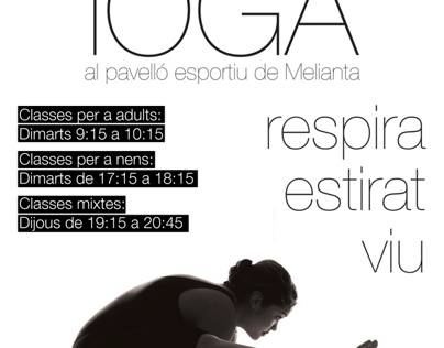 Cartel Curso de Yoga