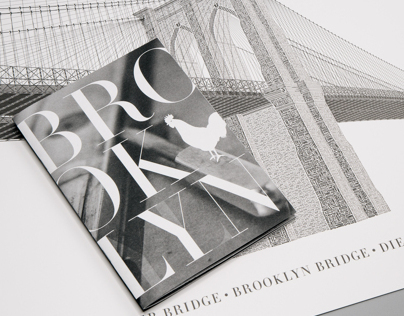 Brooklyn Bridge in Letterpress Type (Completed)