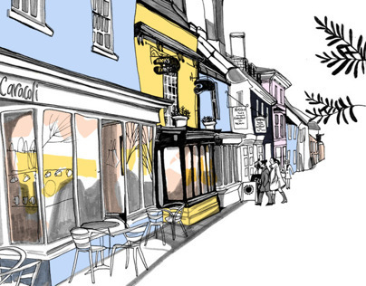 Reportage Illustration: Alresford, Hampshire