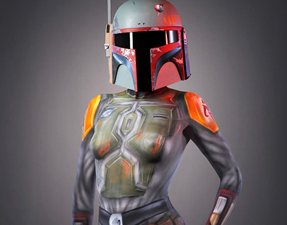 Star Wars body painting.