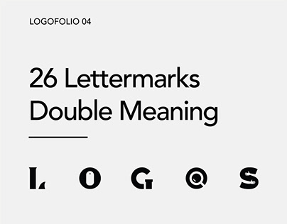 Logo collection - 26 double meaning logos