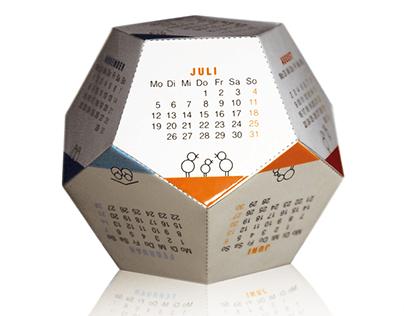Dodekaeder Kalender 2015