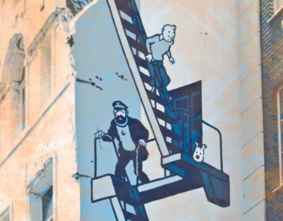 Comic Strip Walk in Brussels Postcard Set