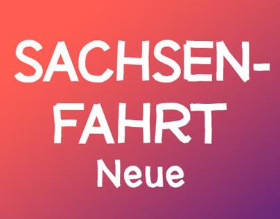 Sachsenfahrt Neue Font