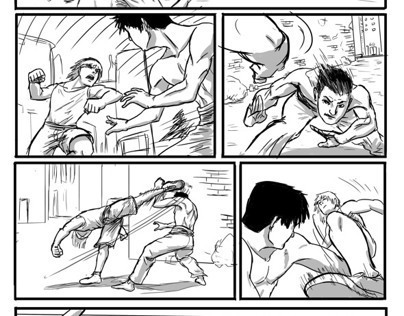 Thesis: Comic Book Fights Through Storyboarding