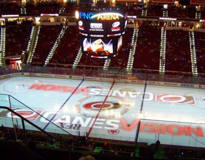 Video & Events: PNC Arena Full Ice Projection (2012)