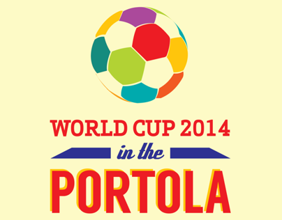 World Cup 2014 in the Portola Poster/Postcard