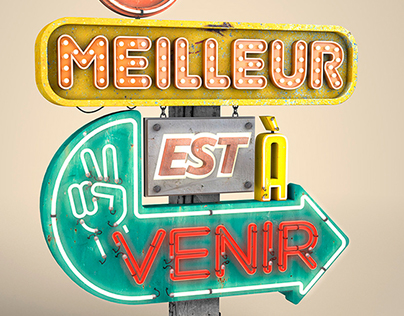 Various 3d Typography works