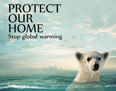 Global Warming I Poster
