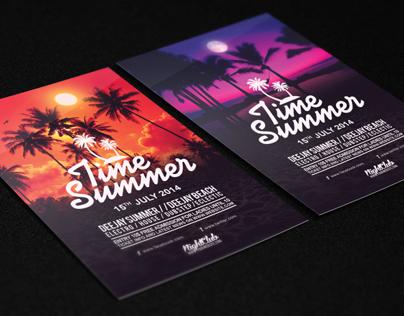 Time Summer Flyer Template