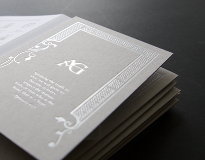 A&G Wedding Invitation
