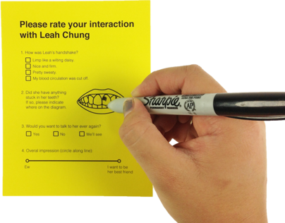 Please Rate Your Interaction with Leah Chung