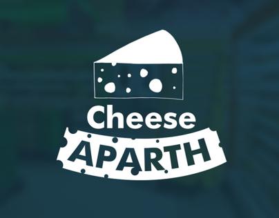 Cheese Aparth - cardboard stand