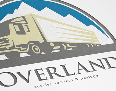 Overland Courier Services Logo Template