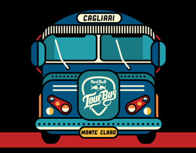 Red Bull Tour Bus / Cagliari