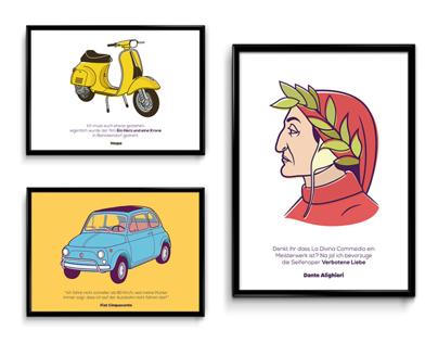 Grano e Pepe // Italian Icons Illustrations