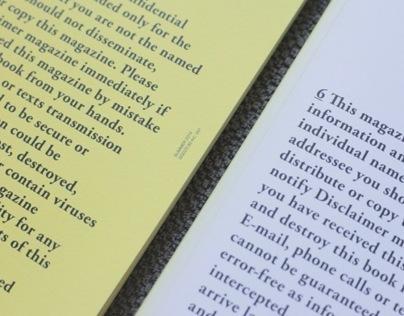 Disclaimer | Editorial Design