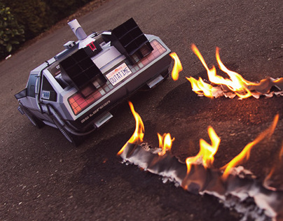 DeLorean - BTTF Inspired papercraft