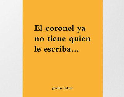 Goodbye García Márquez