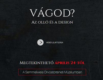 Vágod? - Az olló és a design kiállítás weboldala