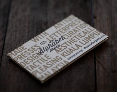 The Alphabet Press Letterpress Business Card
