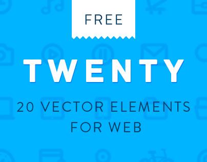 TWENTY: Line vector set for web