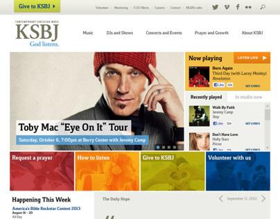 KSBJ.org redesign