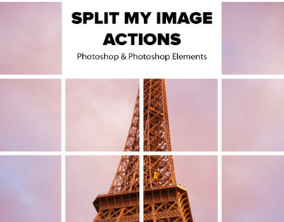 Split My Image Actions for Photoshop and Elements