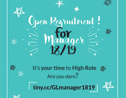 Open Recruitment Manager AIESEC 18/19