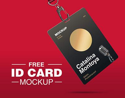 Free ID CARD Mockup