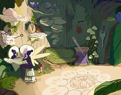 Tinkerbell Bedroom Concept Paintings